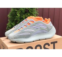 Купить Чоловічі кросівки Adidas Yeezy 700 v3 сірі з помаранчевим в Украине