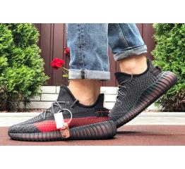 Купить Чоловічі кросівки Adidas Yeezy Boost 350 чорні з червоним