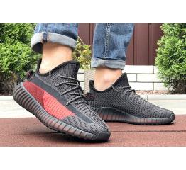 Купить Чоловічі кросівки Adidas Yeezy Boost 350 чорні з червоним в Украине