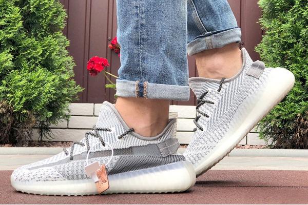 Мужские кроссовки Adidas Yeezy Boost 350 серые