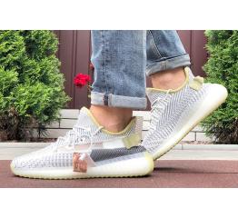 Купить Мужские кроссовки Adidas Yeezy Boost 350 серые с лаймовым