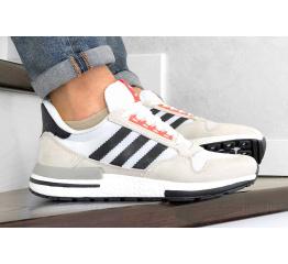 Купить Мужские кроссовки Adidas Zx 500 Rm бежевые с белым