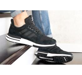 Купить Мужские кроссовки Adidas Zx 500 Rm черные с белым в Украине