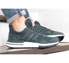 Купить Мужские кроссовки Adidas Zx 500 Rm серо-синие