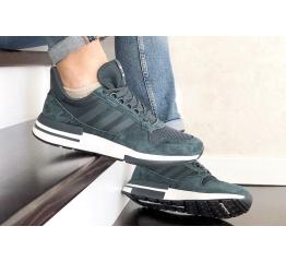 Купить Мужские кроссовки Adidas Zx 500 Rm серо-синие в Украине