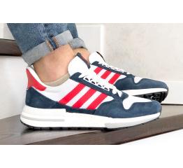 Купить Мужские кроссовки Adidas Zx 500 Rm темно-синие с белым и красным