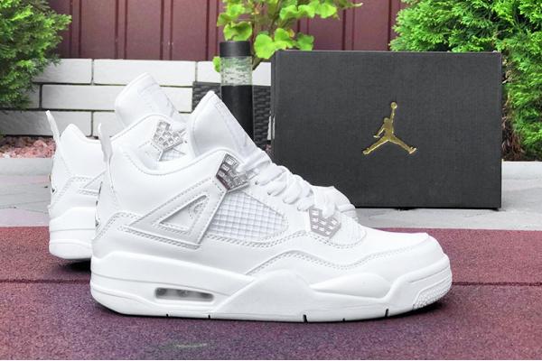 Мужские кроссовки Air Jordan 4 Retro белые