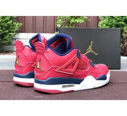 Купить Мужские кроссовки Air Jordan 4 Retro красные в Украине