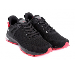 Купить Чоловічі кросівки BaaS чорні з червоним (black / red) в Украине