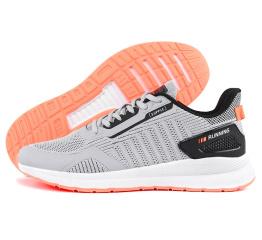 Купить Мужские кроссовки BaaS серые с коралловым (grey/salmon)