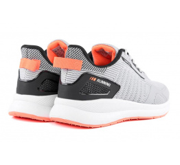 Купить Мужские кроссовки BaaS серые с коралловым (grey/salmon) в Украине