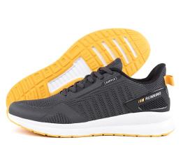 Купить Мужские кроссовки BaaS темно-серые с желтым (dkgrey/yellow)