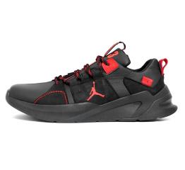 Купить Мужские кроссовки Jordan черные с красным