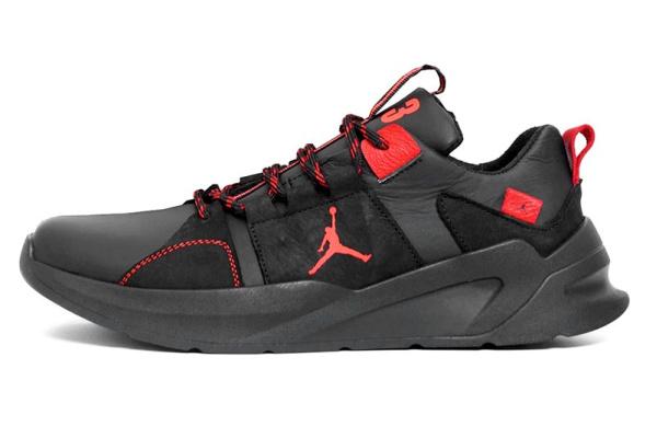 Мужские кроссовки Jordan черные с красным
