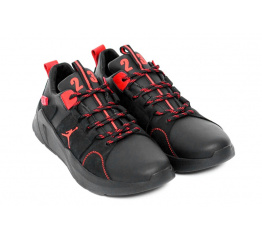 Купить Мужские кроссовки Jordan черные с красным в Украине
