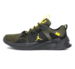 Купить Мужские кроссовки Jordan зеленые с черным
