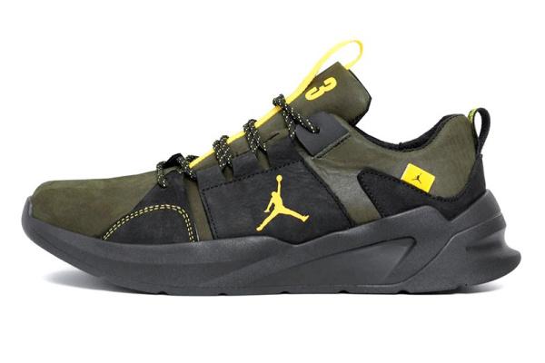 Мужские кроссовки Jordan зеленые с черным
