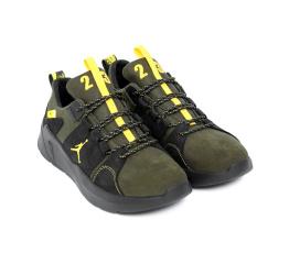 Купить Мужские кроссовки Jordan зеленые с черным в Украине
