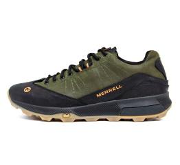Купить Чоловічі кросівки Merrell зелені з чорним