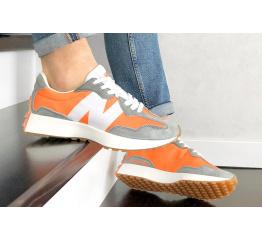 Купить Чоловічі кросівки New Balance 327 помаранчеві з сірим