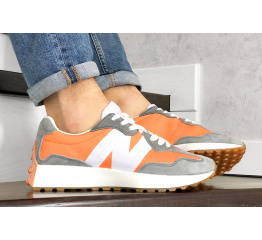 Купить Чоловічі кросівки New Balance 327 помаранчеві з сірим в Украине