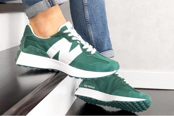 Мужские кроссовки New Balance 327 зеленые