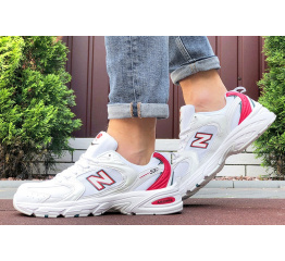 Купить Мужские кроссовки New Balance 530 белые с красным