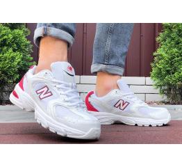 Купить Чоловічі кросівки New Balance 530 білі з червоним в Украине