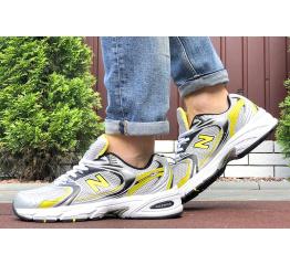 Купить Мужские кроссовки New Balance 530 серые с желтым