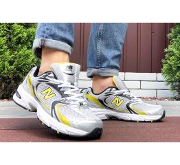 Купить Чоловічі кросівки New Balance 530 сірі з жовтим в Украине