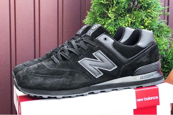 Мужские кроссовки New Balance 574 черные (black)