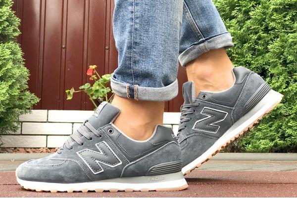 Мужские кроссовки New Balance 574 серые (grey/gum)