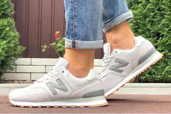 Мужские кроссовки New Balance 574 светло-серые (light grey)