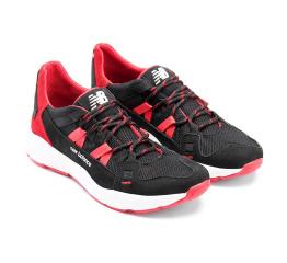 Купить Мужские кроссовки New Balance черные с красным в Украине