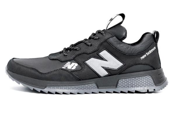 Мужские кроссовки New Balance черные с серым