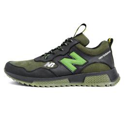 Купить Мужские кроссовки New Balance зеленые с черным