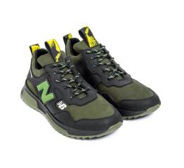 Купить Мужские кроссовки New Balance зеленые с черным в Украине