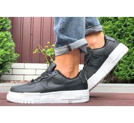 Купить Мужские кроссовки Nike Air Force 1 Pixel черные с белым