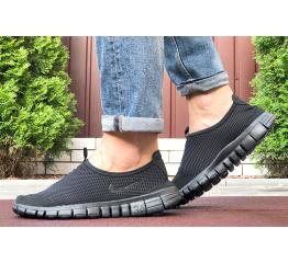 Купить Мужские кроссовки Nike Air Free Run 3.0 Slip-On черные