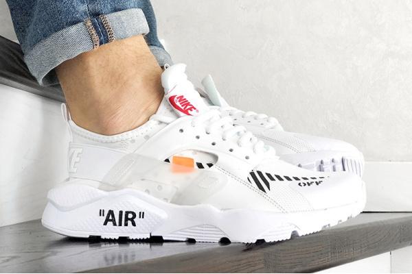 Мужские кроссовки Nike Air Huarache x Off-White белые