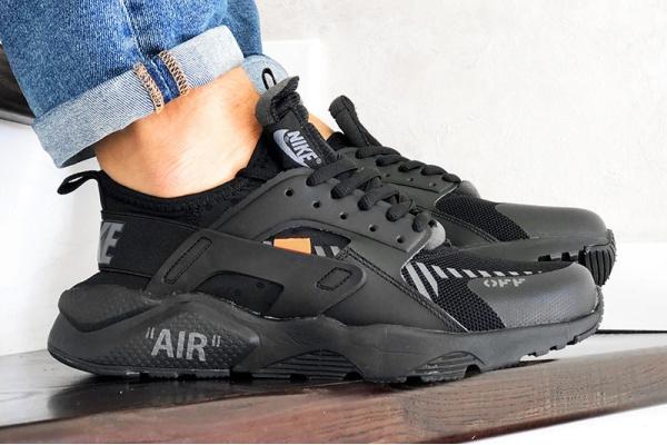 Мужские кроссовки Nike Air Huarache x Off-White черные