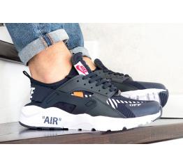 Купить Мужские кроссовки Nike Air Huarache x Off-White темно-синие с белым
