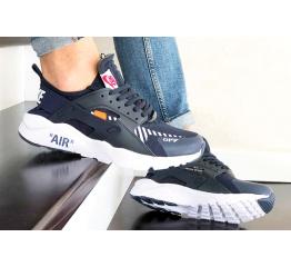 Купить Чоловічі кросівки Nike Air Huarache x Off-White темно-сині з білим в Украине