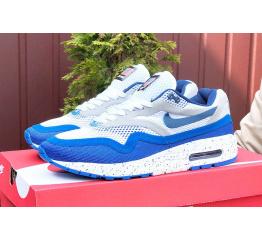 Купить Мужские кроссовки Nike Air Max 1 Breathe белые с синим