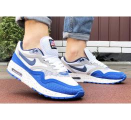 Купить Мужские кроссовки Nike Air Max 1 Breathe белые с синим в Украине