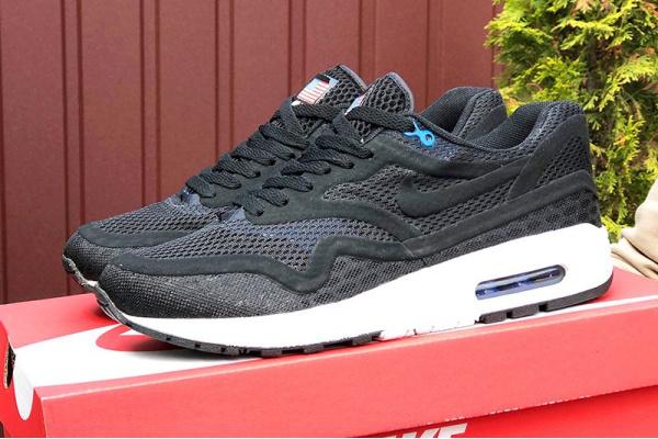 Мужские кроссовки Nike Air Max 1 Breathe черные с белым