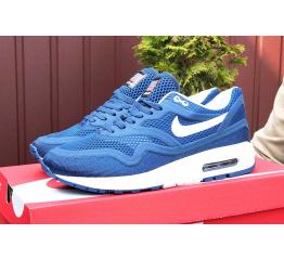Купить Мужские кроссовки Nike Air Max 1 Breathe синие с белым