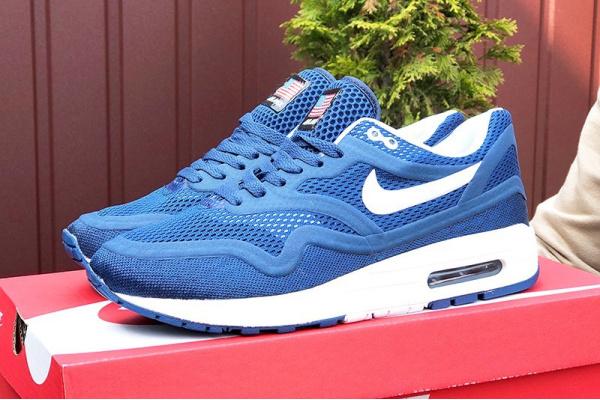 Мужские кроссовки Nike Air Max 1 Breathe синие с белым