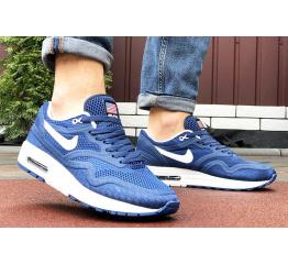 Купить Мужские кроссовки Nike Air Max 1 Breathe синие с белым в Украине