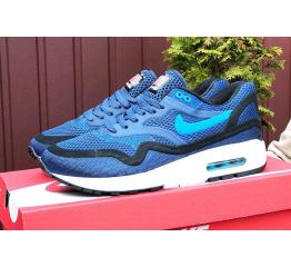 Купить Мужские кроссовки Nike Air Max 1 Breathe синие с черным